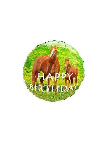 Creative Converting Unisex Adult Wild Horses Foil Balloon Brown Medium