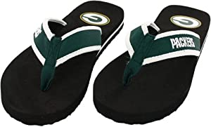 Green Bay Packers Men's Contour Flip Flop Sandals from Unknown