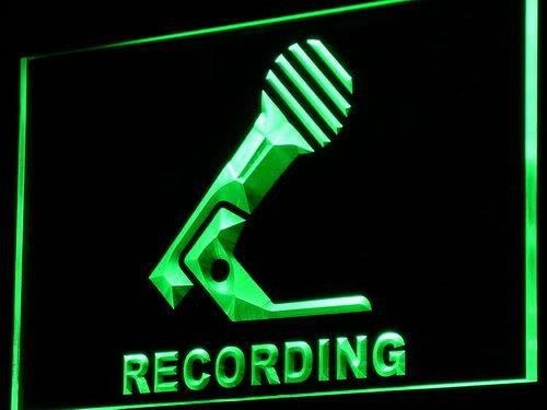 Adv Pro I799-G Recording Microphone On Air New Neon Light Sign