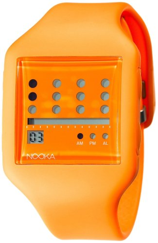 Nooka Unisex ZUB-ZOT-OR-20 Zub Zot Orange Polyurethane Watch