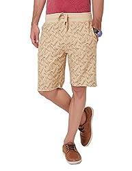 Elaborado Men's Casual Shorts - Khaki Brown - 34 - EAIS5122KB4