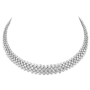 25.68ct 18k White Gold Diamond Necklace