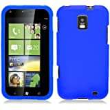 Eagle Cell SCSAMI937S02 Barely There Slim and Soft Skin Case for Samsung Focus S i937 - Retail Packaging - Blue