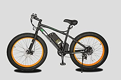 "26"" Fat Tire Wheel Men Snow Beach Mountain electric Bicycle 500W 48V"