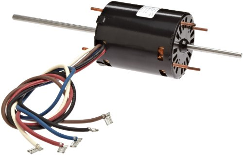 """Fasco D326 3.3"""" Frame Open Ventilated Permanent Split Capacitor Window A/C Motor WithBall Bearing, 1/10-1/20-1/25Hp, 1550Rpm, 115V, 60Hz, 2.2-1.8-1.5 Amps"""