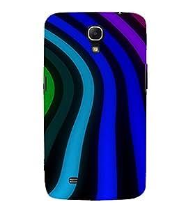 PrintVisa Wave Stripes Pattern 3D Hard Polycarbonate Designer Back Case Cover for Samsung Galaxy Mega 6.3