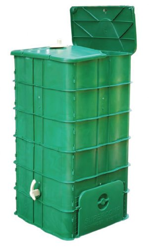 World first: Composter - Garden Compost Bin - No turning of the pile anymore - without bottom board
