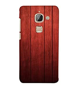 PrintVisa Rich Wood Pattern 3D Hard Polycarbonate Designer Back Case Cover for LeEco Le 2 Pro