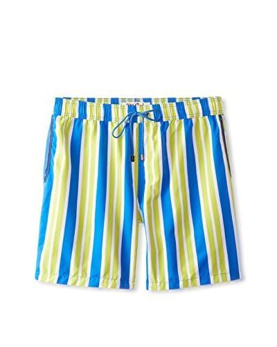 """Mr. Swim Men's Stripe 7.5"""" Swim Trunks"""