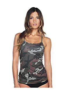 WITH Women's Back Mesh Tank Camo X-Small