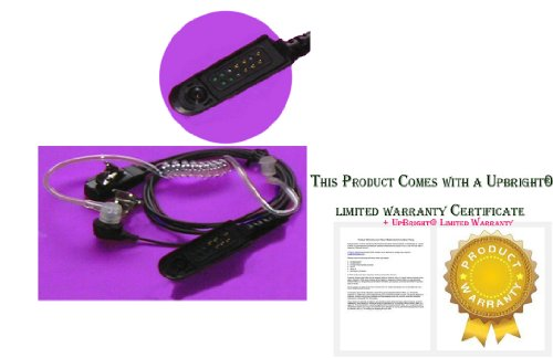Upbright® New Ear-Piece Acoustic Tube Headset For Motorola Walkie Talkie Two-Way Radio Series; Pmmn4021, Pmmn4021A, Pmmn4027, Pmmn4027A, Pmmn4039, Pmmn4039A, Hmn9052, Hmn9052E, Hmn9053, Hmn9053B, Hmn9053C, Hmn9053E, Br950, Gp140, Gp240, Gp280, Gp318, Gp32