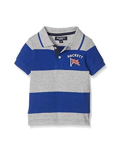Hackett London Poloshirt Yd Stripe Pl T grau/blau