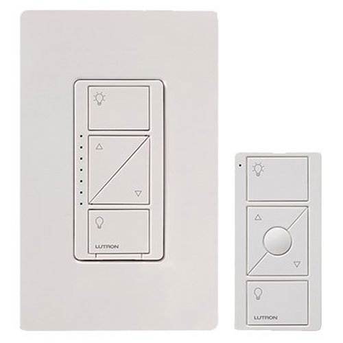 Lutron Caseta Wireless In-Wall Dimmer Kit, (Kit Includes Dimmer, Pico Remote and Wall Plate), 600-watt/150-watt, Multi-Location,Works with Amazon Alexa (Remote Light Dimmer compare prices)