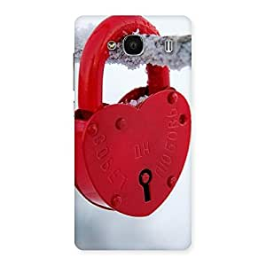 Ajay Enterprises Ft Red Lock Multicolors Back Case Cover for Redmi 2 Prime