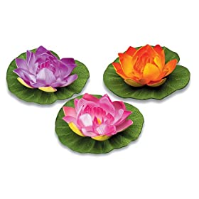 Sunterra 350100 5-Inch Floating Lily Pad Assorted Colors