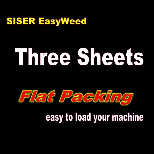 Best Buy! Dingword Packaging -3 sheets of 12 x 15 Siser Easyweed Heat Transfer Vinyl, IRON ON T-sh...