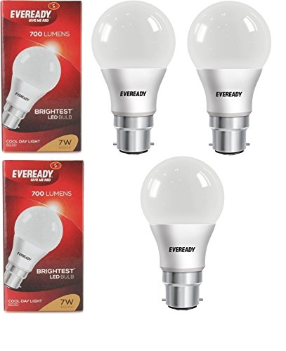 7W Cool Day Light 700 Lumens LED Bulb (Pack of 3)