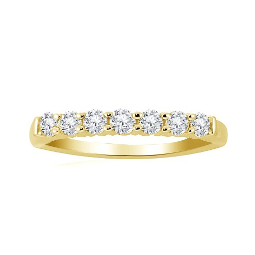 Women's 14k Yellow Gold Ring (1/4 cttw, I-J Color,I1-I2 Clarity), Size 7