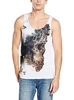 Mr. Gugu & Miss Go Camiseta Tirantes Unisex Dead Nature (Gris Oscuro / Blanco)