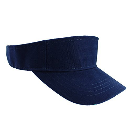 Enimay Sports Tennis Golf Sun Visor Hats Adjustable Velcro Plain Bright Colors Navy (Sun Visor Hats Sport compare prices)