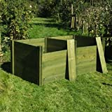 FSC Green 'Classic' Twin Wooden Compost Bin