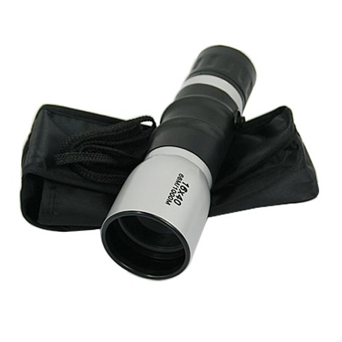 Hde Mini Monocular Handheld Adjustable Telescope W/ Focus 16-40X Zoom