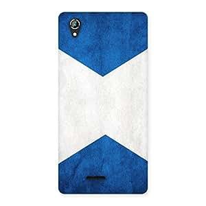 Cute X Fin Blue Back Case Cover for Lava Iris 800