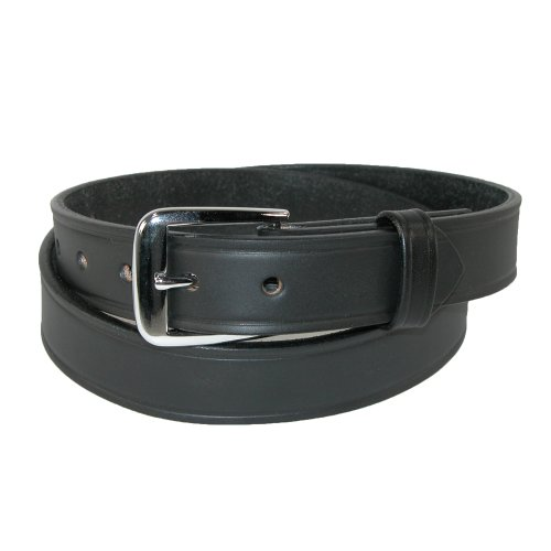 Boston Leather Mens Leather 1 1/4 inch Sports Officials Belt, 36, Black