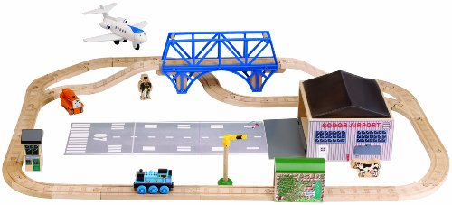 Thomas and Friends Wooden Railway - Jeremy At The Airfield Set