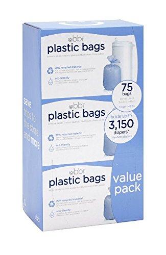 Ubbi Plastic Bags, 3 Count