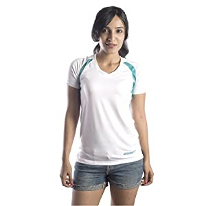 Tee Poly Women VNeck | Color Green | Size Medium
