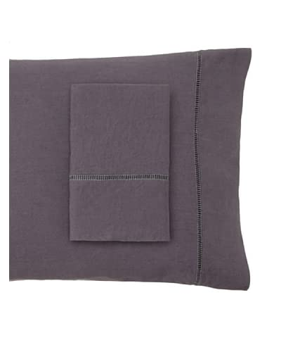 Mélange Home 2 Piece Linen Standard Pillowcase