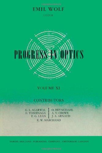 Progress In Optics Volume 11, Volume 11