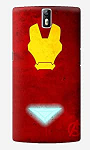 The Fappy Store Iron-Man Printed Hard Back Case Cover for One Plus One