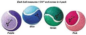 Dog Balls - Dog Tennis Balls for Tiny Dogs - Set of 4
