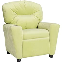 Flash Furniture Kids\' Microfiber Recliner with Cup Holder,Avocado