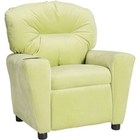Flash Furniture Kids' Microfiber Recliner with Cup Holder,Avocado