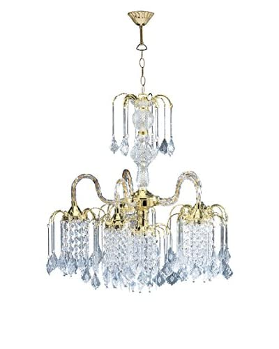 ORE International Polished Brass Finish 4-Light Chandelier, Polished Brass