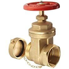 "Dixon WDGV251F Forged Brass Non-rising Stem Wedge Disc Gate Valves, 2-1/2"" NPT Female x NST Male"