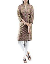 Unnati Silks Women Pracheen kala copper rose Pochampally cotton kurti