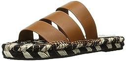 Sol Sana Women\'s Lawrence Slide Sandal, Burnt Tan Leather, 39 EU/9 M US