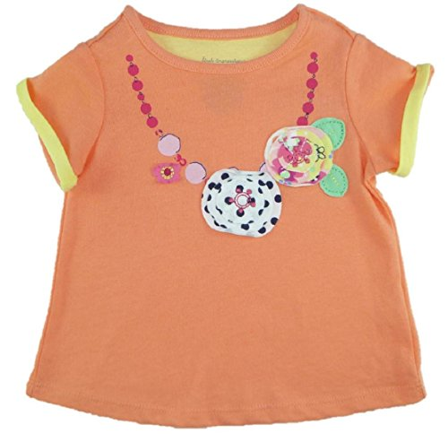 First Impressions Baby Girl'S S/S Embellished Tee (3-6 Months, Coral) front-747244