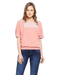 Saiesta Women's Blush Pink Boho Kimono Style Top