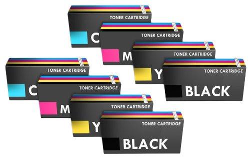 Prestige Cartridge TK-590 Tonerkartuschen für Kyocera Mita FS-C2026MFP/FS-C2126MFP/FS-C2526MFP, 8-er Multipack, farbig sortiert