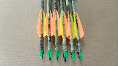 6pcs 31.5″ Camo Carbon Fiber Arrow Archery Hunting Nocks for Compound Bow Shooting