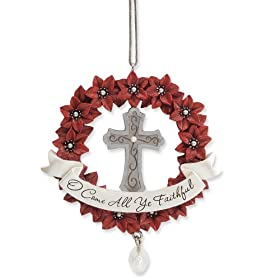 Enesco Legacy of Love Cross/Faithful Ornament 3-1/2-Inch