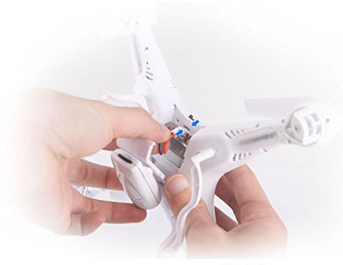 Syma X5C EXPLORER (Forscher) Weiße Sonder-Edition mit Zusatz-Akku und HD Kamera mit Tonaufzeichnung - 3D Quadrocopter Drohne, mit Motor-STOPP-Funktion & Akku-Warner, 360° Flip Funktion, 2.4 GHz, 4-Kanal, 6-AXIS Stabilization System