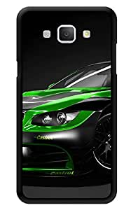 "Humor Gang Sport Car Craze Green Black Printed Designer Mobile Back Cover For ""Samsung Galaxy A8"" (3D, Glossy, Premium Quality Snap On Case)"