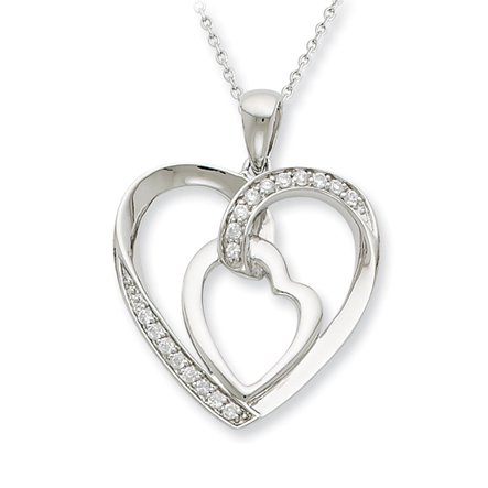 The Black Bow - My Heart to Yours Necklace in Silver