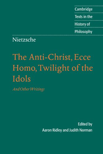 essays on twilight of the idols 2) form a coherent essay in which you answer the following: •what is human nature for nietzsche explain/describe •what does human nature mean in terms of.